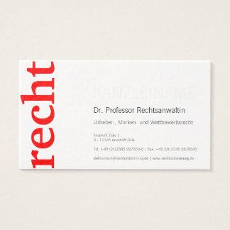 Chancelaria cartão de presentação