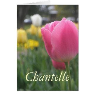 Chantelle Cartão Comemorativo