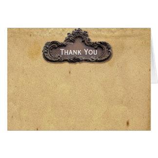 Chapa antiga do pergaminho e do bronze cartão de nota