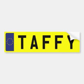 Chapa de matrícula do TAFFY Adesivo Para Carro