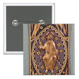 Chapa do relicário que descreve o cristo bóton quadrado 5.08cm
