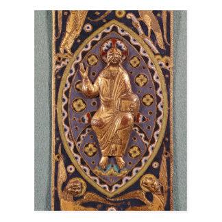 Chapa do relicário que descreve o cristo cartão postal