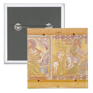 Chapa que descreve St Mark Bóton Quadrado 5.08cm