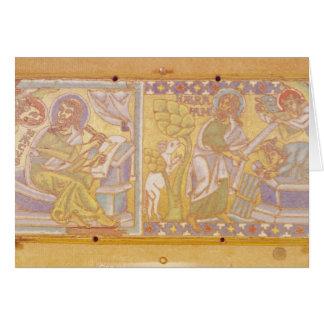 Chapa que descreve St Mark Cartão Comemorativo