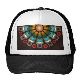 Chapéu abstrato floral bonito da arte do vetor boné