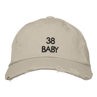 Chapéu afligido 38 bebês bordado boné bordado