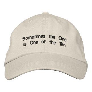 Chapéu afligido de tipo de tela de algodão com boné bordado