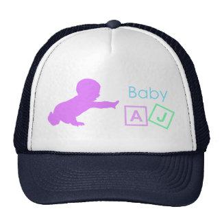 Chapéu AJ do camionista do bebê Boné
