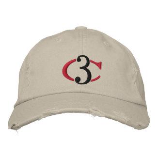 Chapéu ajustável afligido logotipo de tipo de tela boné bordado
