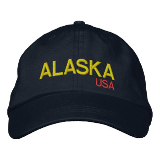 Chapéu ajustável de Alaska* EUA Boné Bordado