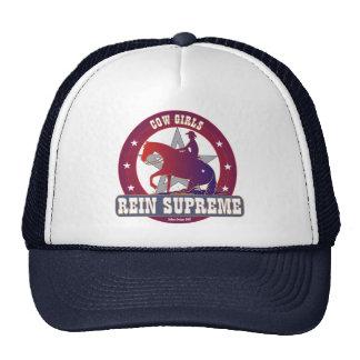 Chapéu ajustável supremo da rédea das vaqueiras bonés