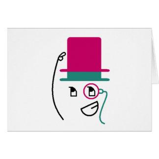 Chapéu alto de dois chapéus cartão comemorativo