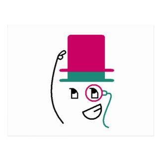 Chapéu alto de dois chapéus cartão postal