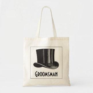 Chapéu alto do padrinho de casamento bolsa tote
