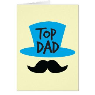 Chapéu alto e moustache SUPERIORES do PAI Cartão Comemorativo
