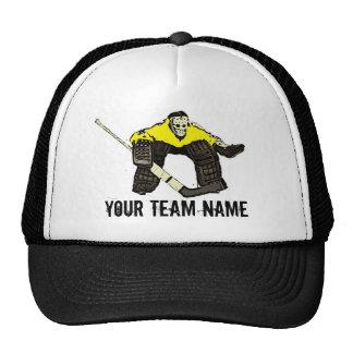 Chapéu amarelo customizável do nome da equipe do boné
