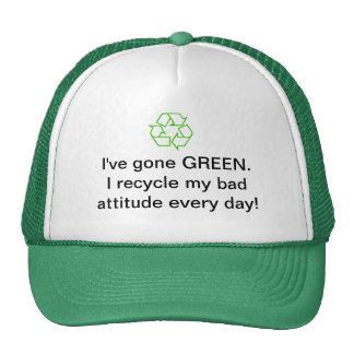 Chapéu ambiental do reciclagem bonés