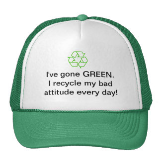 Chapéu ambiental do reciclagem boné