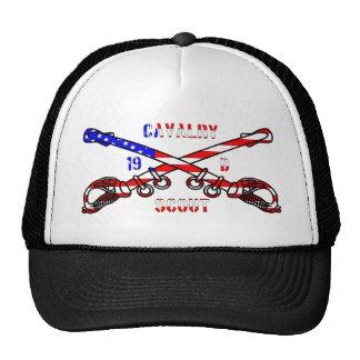 Chapéu americano do camionista da cavalaria boné