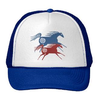 Chapéu antigo de dois cavalos bones
