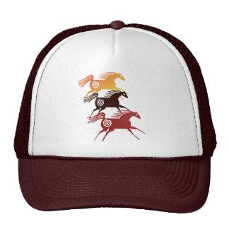 Chapéu antigo de três cavalos boné