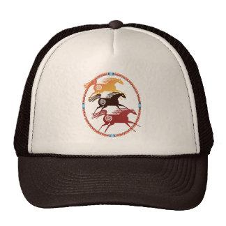 Chapéu antigo do Oval de três cavalos Bonés