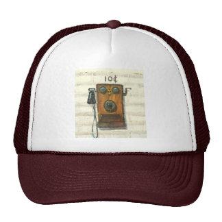 chapéu antigo do telefone de pagamento boné