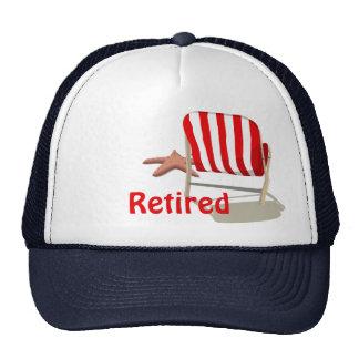Chapéu aposentado da cadeira de praia boné