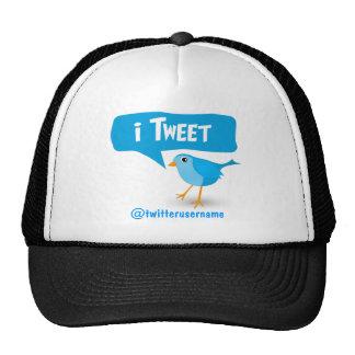 chapéu azul bonito do pássaro do Twitter do iTweet Boné