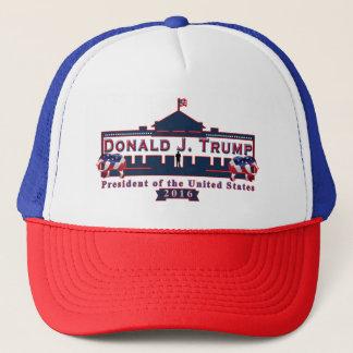 Chapéu azul branco vermelho do boné de beisebol de