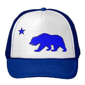 Chapéu azul de néon do urso da bandeira de Califór Bones