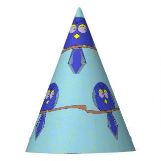 chapéu azul do partido do pássaro dos desenhos