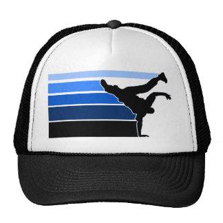 Chapéu azul do preto do inclinação de BBOY Bones