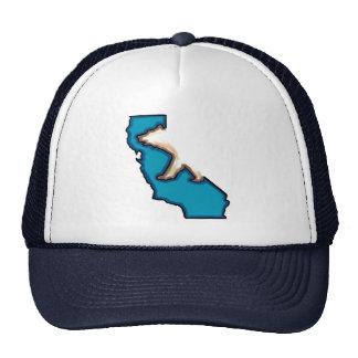 Chapéu azul do símbolo de estado de Califórnia do  Boné
