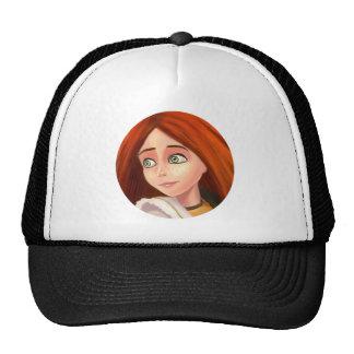 chapéu bonito da menina dos desenhos animados bone