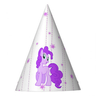 Chapéu bonito do aniversário da menina roxa do