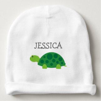 Chapéu bonito do beanie do bebê da tartaruga verde gorro para bebê