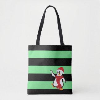 Chapéu bonito e lenço do pinguim w/Red da dança Bolsa Tote