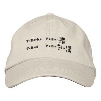 Chapéu, bordado, as equações de Maxwell Bonés Bordados