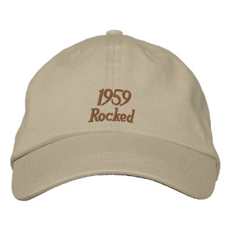 Chapéu bordado balançado 1959 boné bordado