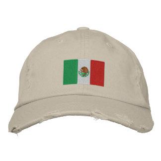 Chapéu bordado bandeira da sarja de tipo de tela d boné bordado