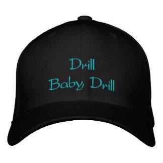 Chapéu bordado broca do bebê da broca boné bordado