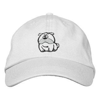 Chapéu bordado buldogue de fascinação boné bordado