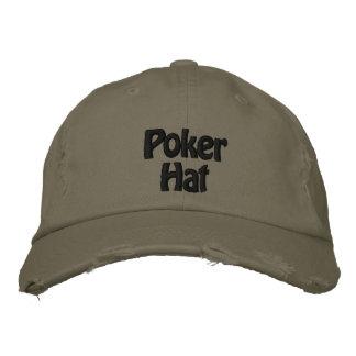 Chapéu bordado chapéu do póquer do boné de