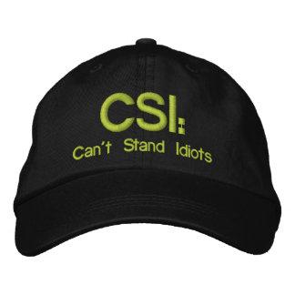 Chapéu bordado CSI: Não pode estar idiota Boné Bordado