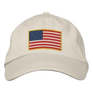 Chapéu bordado da bandeira dos EUA Boné Bordado