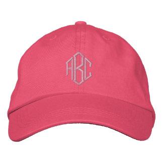 Chapéu bordado da equipe do casamento do monograma boné bordado