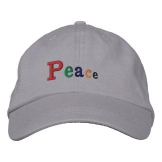 """Chapéu bordado da """"paz"""" boné ajustável"""
