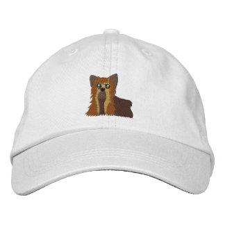 Chapéu bordado de Yorkie Bonés Bordados