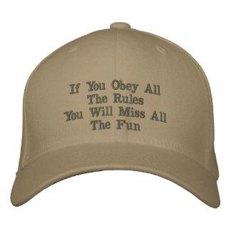 Chapéu bordado divertimento boné bordado